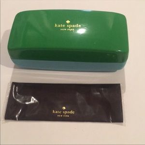 Brand New Kate Spate sunglasses case & cloth set